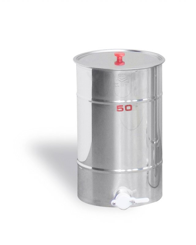 Maturatore 50 kg, inox, rubinetto in plastica alimentare