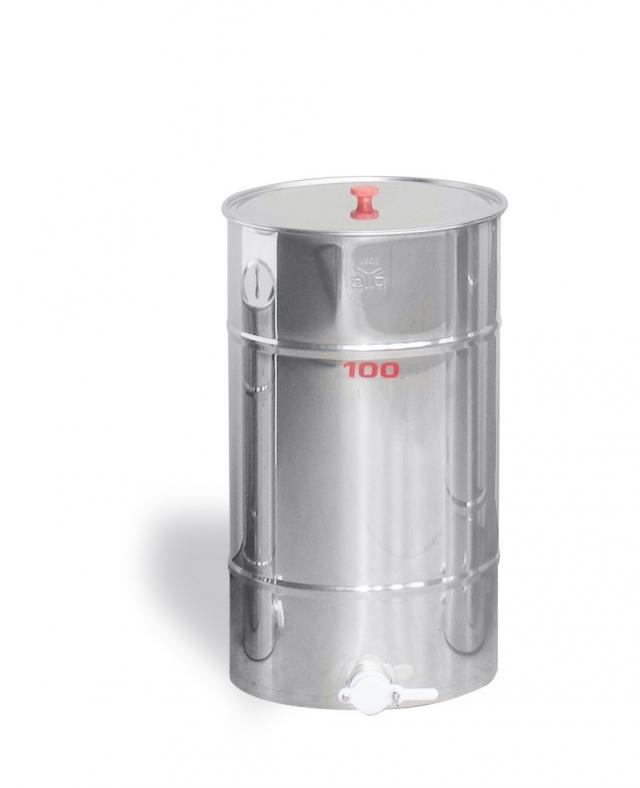 Maturatore 100 kg, inox, rubinetto in plastica alimentare