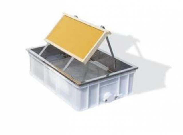 Banco disopercolatore da tavolo, vasca in plastica alimentare 60x40x18cm con rubinetto