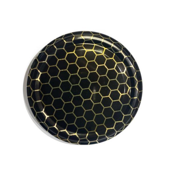 Tappo nero alveare per vaso miele 1kg Diametro 82