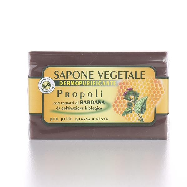 Sapone vegetale: sapone propoli e bardana