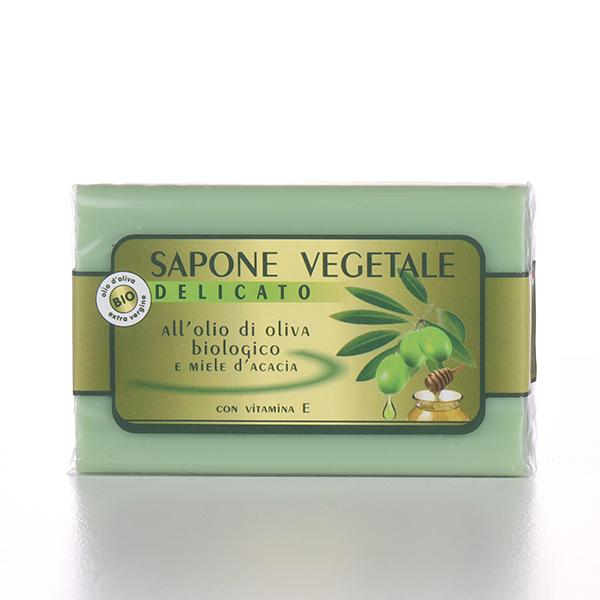 Sapone vegetale all'olio di oliva biologico con miele d'acacia e vitamina e - 150 gr